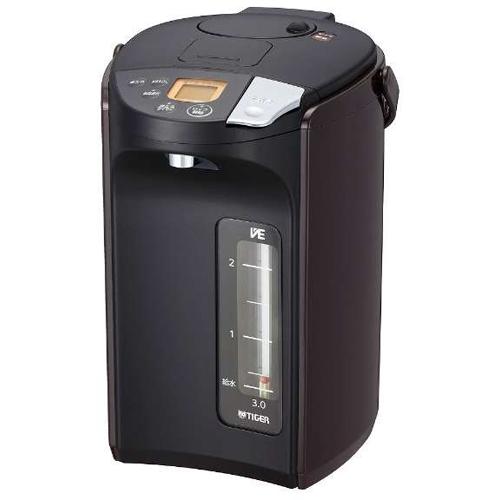 タイガー魔法瓶 PIS-A300-T(ブラウン) とく子さん 蒸気レス VE電気まほうびん 3.0L
