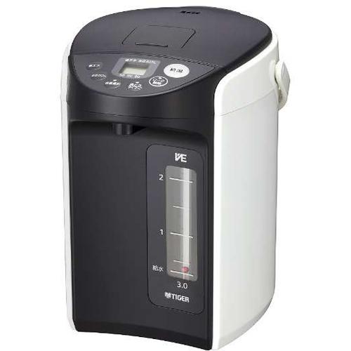 【長期保証付】タイガー魔法瓶 PIQ-A300-W(ホワイト) とく子さん VE電気まほうびん 3.0L