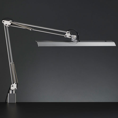 山田照明 Z-10NSL(シルバー) Z-Light LEDスタンドライト クランプ式