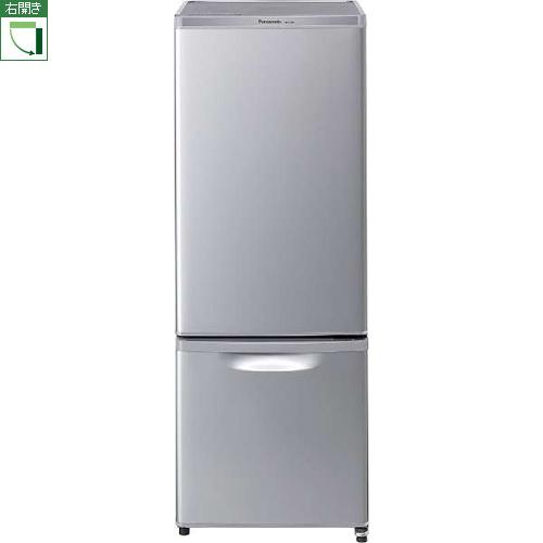 【設置+リサイクル+長期保証】パナソニック NR-B17AW-S(シルバー(本体色はグレー) ) 2ドア冷蔵庫 右開き 168L