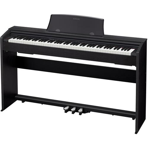 【設置】CASIO PX-770-BK(ブラックウッド調) Privia(プリヴィア) 電子ピアノ 88鍵盤
