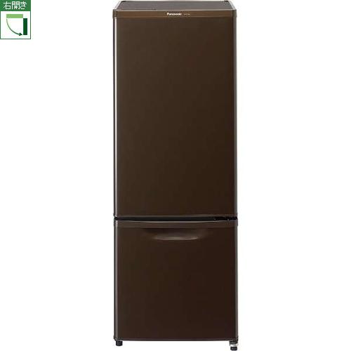 【設置】パナソニック NR-B17AW-T(マホガニーブラウン) 2ドア冷蔵庫 右開き 168L