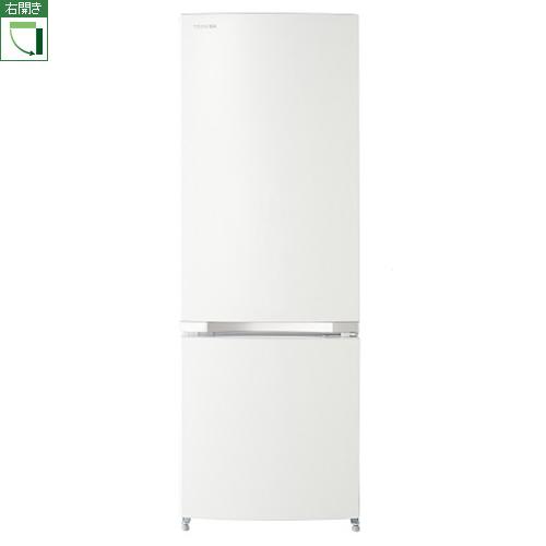 東芝 GR-M17BS-W(シェルホワイト) 2ドア冷蔵庫 右開き 171L