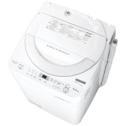 【設置+リサイクル】シャープ ES-GE6B-W(ホワイト) 全自動洗濯機 上開き 洗濯6kg