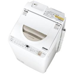 【設置+リサイクル】シャープ ES-TX5B-N(ゴールド) 縦型洗濯乾燥機 上開き 洗濯5.5kg/乾燥3.5kg
