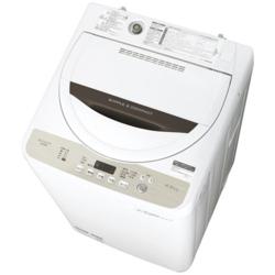 【設置+リサイクル+長期保証】シャープ ES-GE4B-C(ベージュ) 全自動洗濯機 上開き 洗濯4.5kg