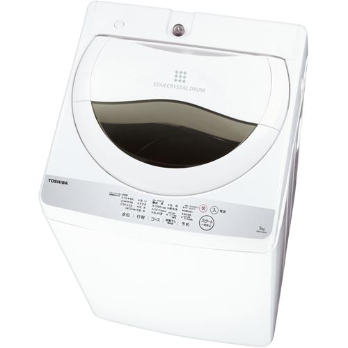 【設置】東芝 AW-5G6-W(グランホワイト) 全自動洗濯機 上開き 洗濯5kg/乾燥1.3kg