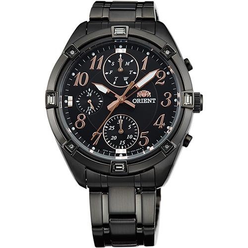【長期保証付】オリエント SUY04001B0(ブラック) 海外モデル 日本製 クオーツ 腕時計 メンズ