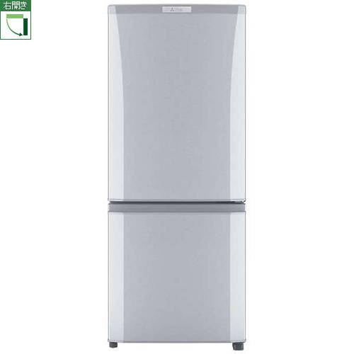 【設置+長期保証】三菱 MR-P15C-S(ピュアシルバー) Pシリーズ 2ドア冷蔵庫 右開き 146L