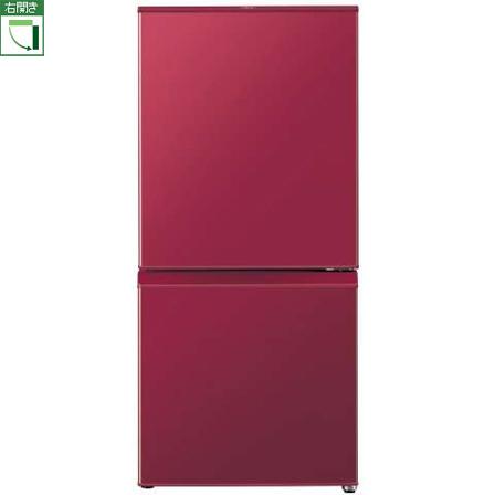 【設置+リサイクル】アクア AQR-16G-R(ルージュ) 2ドア冷蔵庫 右開き 157L