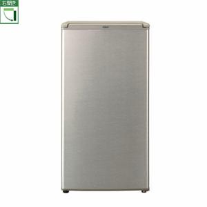 【設置+リサイクル+長期保証】アクア AQR-8G-S(ブラッシュシルバー) 1ドア冷蔵庫 右開き 75L