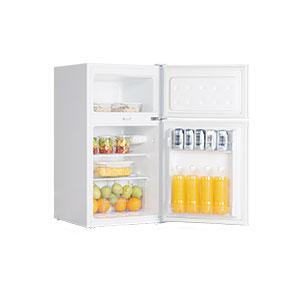 【長期保証付】SKJAPAN SR-A90(ホワイト) 2ドア冷蔵庫 右開き 85L