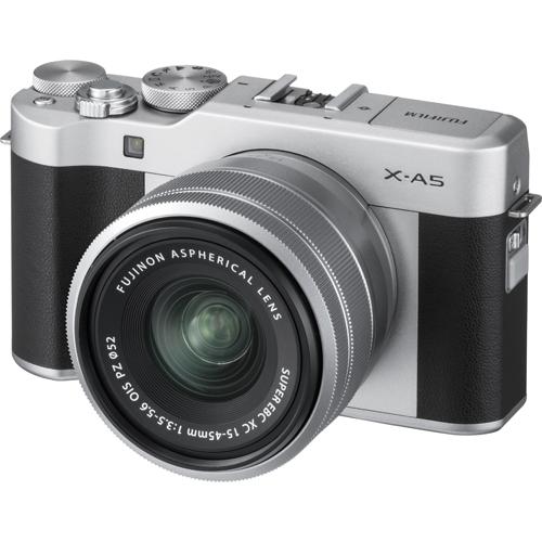 【長期保証付】富士フイルム ミラーレス一眼カメラ X-A5 レンズキット(シルバー) 小型軽量 Wi-Fi ワイヤレス機能
