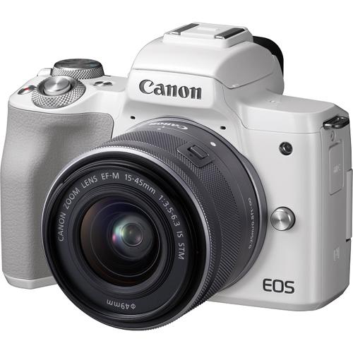 【長期保証付】CANON EOS Kiss M EF-M15-45 IS STM レンズキット(ホワイト)