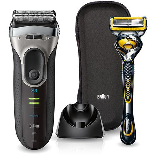 ブラウン 3080SSP1(シルバー) Series3(シリーズ3) お風呂剃りモデル ジレットプロシールド付き 3枚枚刃
