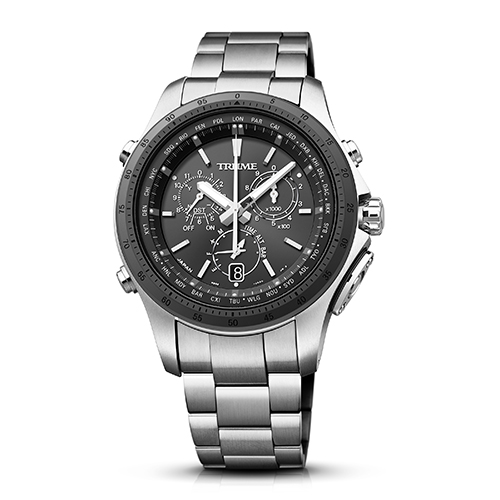 【長期保証付】エプソン TR-MB5001(ブラック) TRUME ソーラー 腕時計(メンズ)