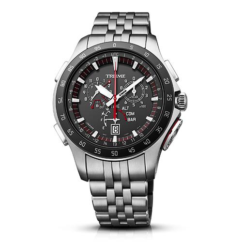 【長期保証付】エプソン TR-MB7003(ブラック) TRUME ソーラー 腕時計(メンズ)