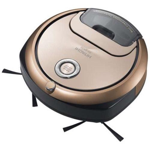 【長期保証付】日立(HITACHI) ロボット掃除機(ディープシャンパン) minimaru(ミニマル) スマホ対応 RV-EX20-N