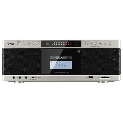 【長期保証付】東芝(TOSHIBA) ハイレゾ対応SD/USB/CDラジオカセットレコーダー(サテンゴールド) Aurex TY-AK1-N