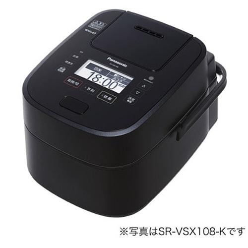パナソニック SR-VSX188-K(ブラック) Wおどり炊き スチーム&可変圧力IHジャー炊飯器 1升