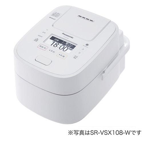 【長期保証付】パナソニック SR-VSX188-W(ホワイト) Wおどり炊き スチーム&可変圧力IHジャー炊飯器 1升
