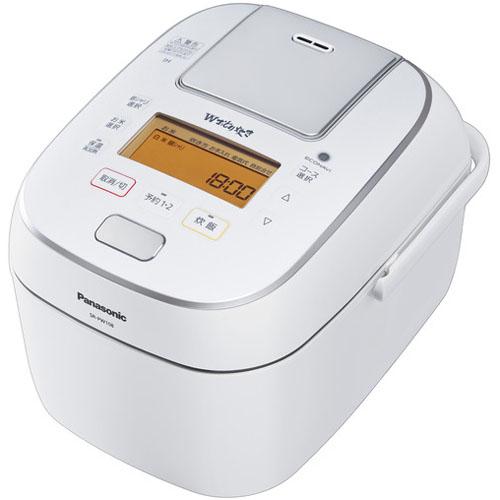 【長期保証付】パナソニック SR-PW108-W(ホワイト) Wおどり炊き 可変圧力IHジャー炊飯器 5.5合