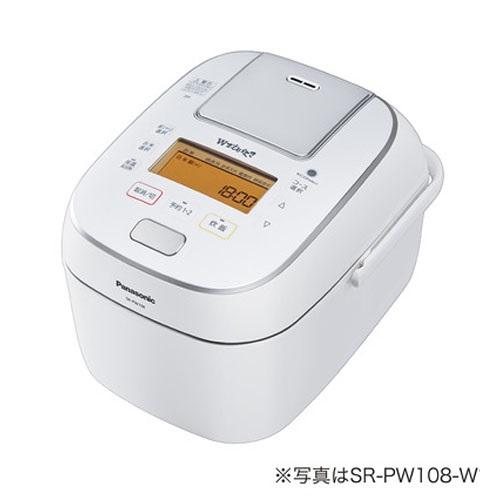 【長期保証付】パナソニック SR-PW188-W(ホワイト) Wおどり炊き 可変圧力IHジャー炊飯器 1升
