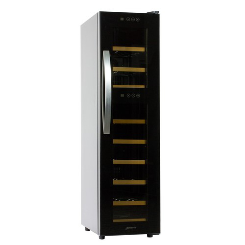 【長期保証付】デバイスタイル WF-P18W ぺルチェ方式ツインルームワインセラー 18本収納