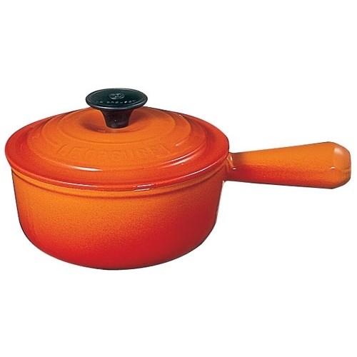 ル・クルーゼ LE CREUSET IH対応 ソースパン 2507-18(オレンジ) 2507-18