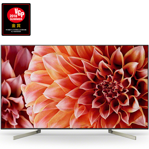 ソニー KJ-49X9000F BRAVIA(ブラビア) 4K液晶テレビ 49V型 HDR対応