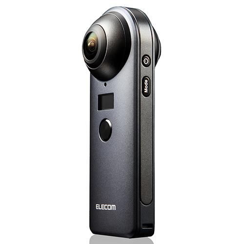 【長期保証付】エレコム OCAM-VRW01BK 4K対応VRカメラ OMNI shot