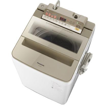 【設置+リサイクル】パナソニック NA-FA80H6-N(シャンパン) 全自動洗濯機 上開き 洗濯8kg