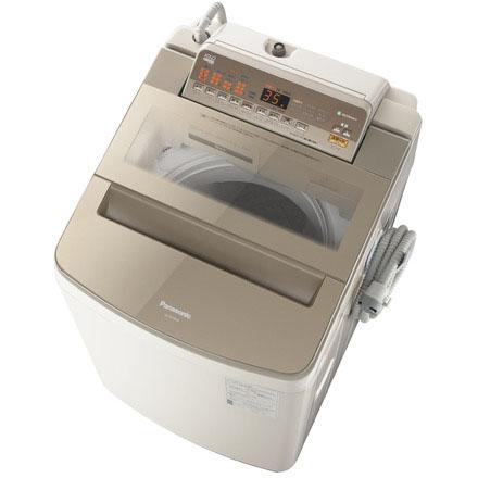 【設置+リサイクル】パナソニック NA-FA100H6-T(ブラウン) 全自動洗濯機 上開き 洗濯10kg