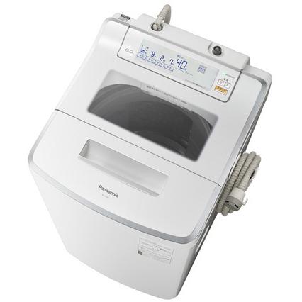 【設置】パナソニック NA-JFA805-W(クリスタルホワイト) 全自動洗濯機 上開き 洗濯8kg