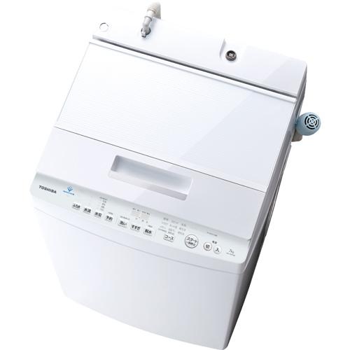 【長期保証付】東芝 AW-7D7-W(グランホワイト) 全自動洗濯機 上開き 洗濯7kg
