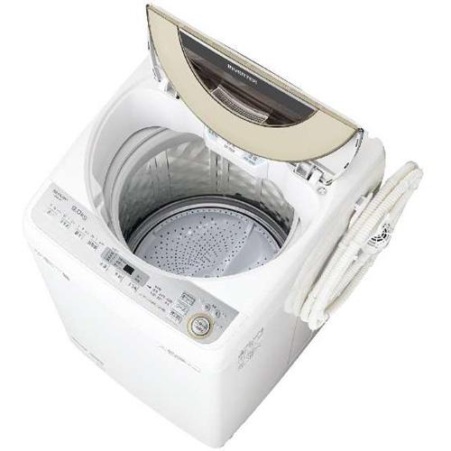 【設置+リサイクル】シャープ ES-GV9C-N(ゴールド) 全自動洗濯機 上開き 洗濯9kg