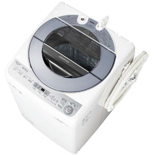 【設置+リサイクル+長期保証】シャープ ES-GV8C-S(シルバー) 全自動洗濯機 上開き 洗濯8kg