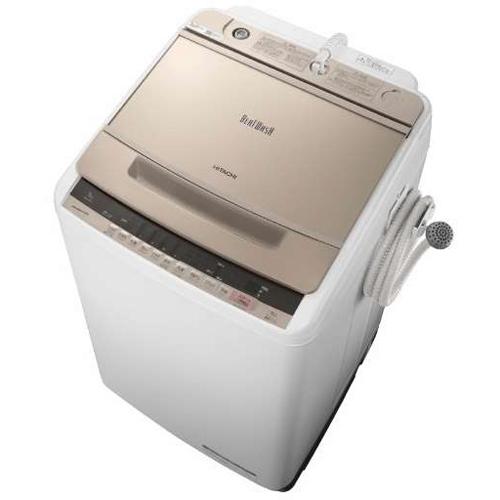 【設置+リサイクル】日立 BW-V90C-N(シャンパン) ビートウォッシュ 全自動洗濯機 上開き 洗濯9kg