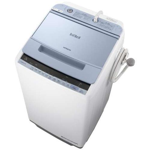 【設置】日立 BW-V70C-A(ブルー) ビートウォッシュ 全自動洗濯機 上開き 洗濯7kg