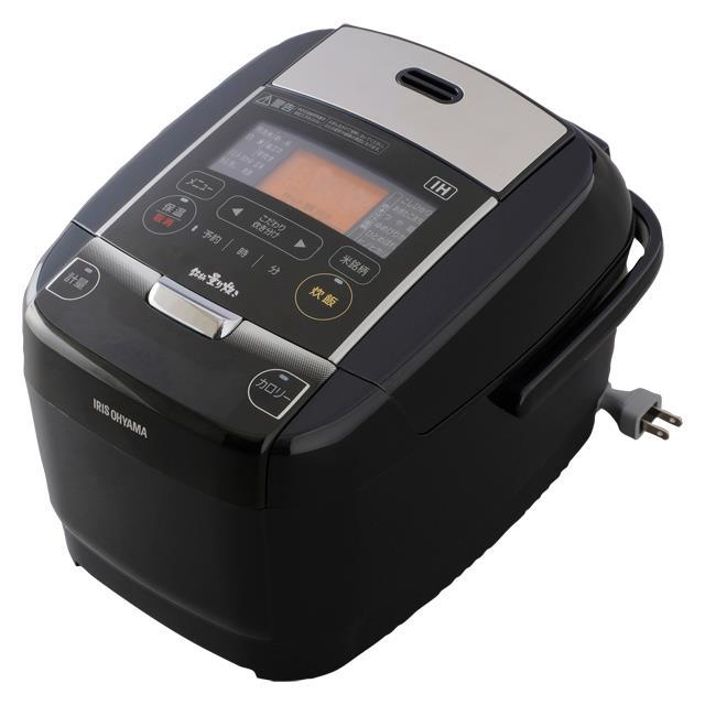 アイリスオーヤマ KRC-IC30-B(ブラック) 銘柄量り炊き IHジャー炊飯器 3合