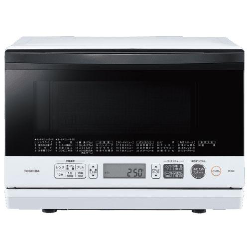 【長期保証付】東芝 ER-S60-W(グランホワイト) 石窯ドーム 角皿式スチームオーブンレンジ 23L