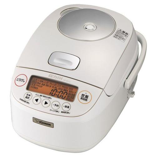 象印 NP-BH10-WA(ホワイト) 極め炊き 圧力IH炊飯ジャー 5.5合