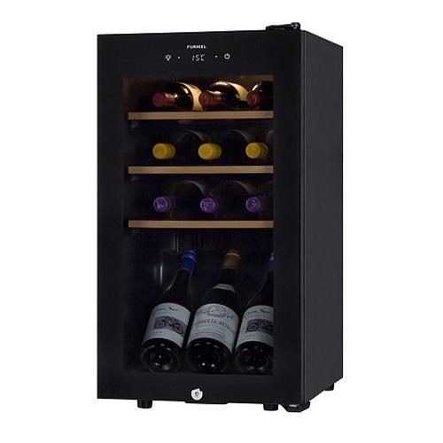 設置 品質保証 さくら製作所 SAB50G 高品質 ピュアブラック FURNIEL 52L ワインセラー 右開き 12本収納