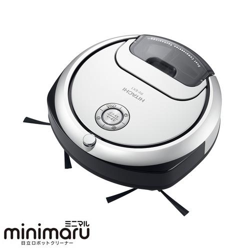 日立 HITACHI minimaru(ミニマル) ロボット掃除機 RV-EX1-W(パールホワイト) RVEX1 清潔 パワフル 強力 クリーナー