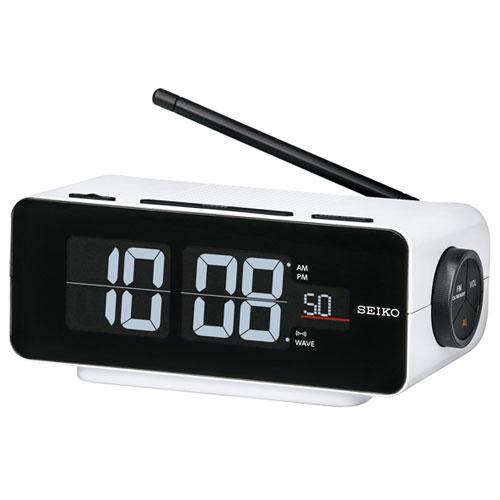 セイコー DL213W(ホワイト) 電波目覚まし時計 シリーズC3