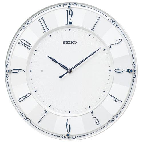 セイコー KX504W(白パール) スタンダード 電波掛時計