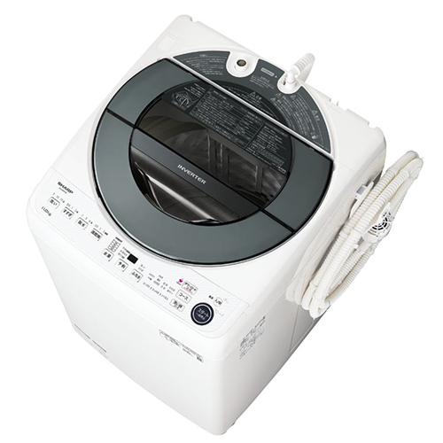 【長期保証付】シャープ ES-GW11E-S(シルバー系) 全自動洗濯機 上開き 洗濯11kg