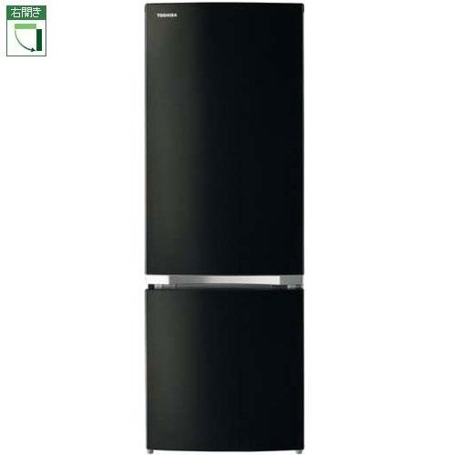 【設置+リサイクル】東芝 GR-P17BS-K(メタリックブラック) 2ドア冷蔵庫 右開き 170L