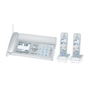 【長期保証付】パナソニック KX-PZ310DW-S(シルバー) おたっくす デジタルコードレス普通紙ファクス 子機2台付