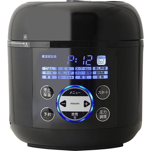 【長期保証付】MAXZEN PCE-MX301-BK(ブラック) マクスゼン コンパクト電気圧力鍋 PCEMX301BK